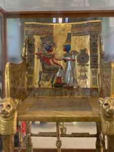 King tut throne at the Egyptian Museum, Cairo